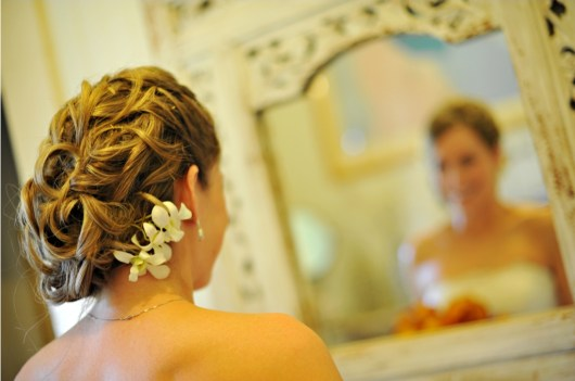 Maui Wedding Stylist  by Beth Bridal Hair Photo by: Sean M Hower