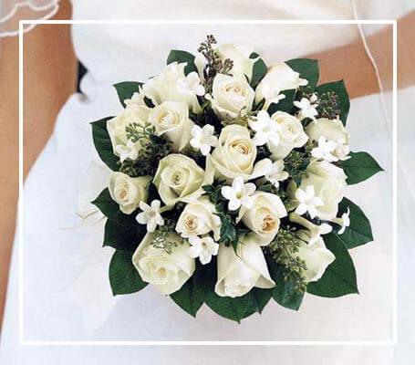 Aloha Beach Maui Weddings Planners & Specialist - FlowersHandheld-Bouquet-Ivory-Roses-White-Pikake-stroke