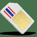 Thai Sim Card showing the flag of Thailand