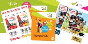 Thai Mobile Phone Companies with Thai tourist sim cards (AIS, DTAC, and TRUEmove)
