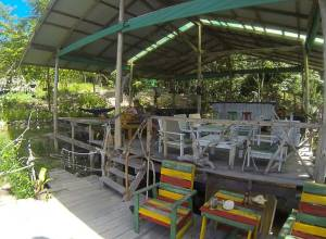 Reception, restaurant, and chill-out area at Wai Shak Bungalows, Koh Chang, Thailand