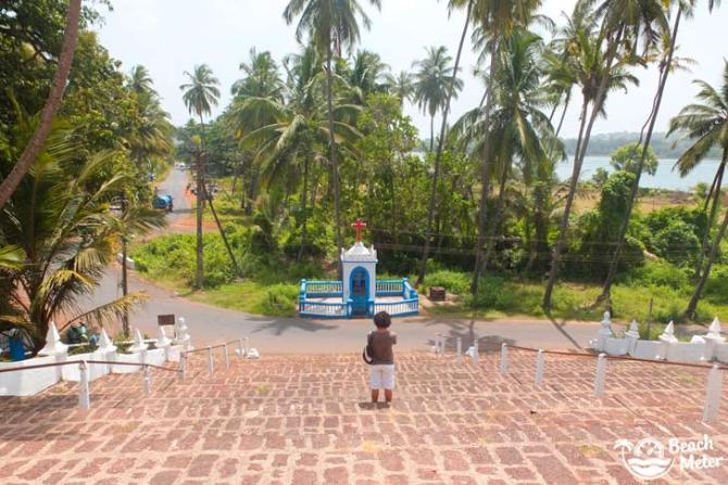 View from the Portuguese Reis Magos Church in Goa, India