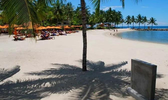 Constructed beach area at Shangri-La's Tanjung Aru Resort and Spa - Kota Kinabalu, Borneo.