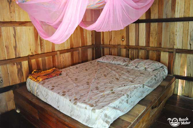 Interior of budget bungalow hotel on Koh Chang Noi