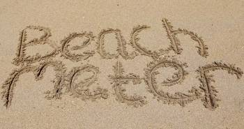 Beachmeter written in the sand