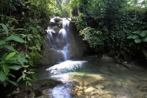 Togi Gana'a Waterfall in North Nias Island of Indonesia
