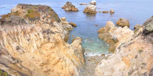 The rocky coast at Point Lobos in California.