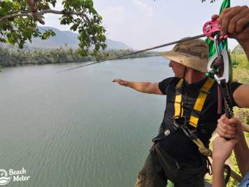 Zipline instructor in Cambodia