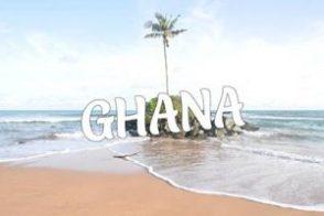 Ghana beach palm tree Cape Three Points