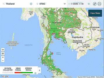 DTAC Phone Signal Coverage Map Thailand