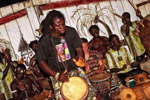 Oasis Beach Resort drumming in Ghana