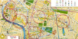 Bangkok area guide map