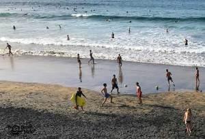 dark sand beach activity in Canary Islands