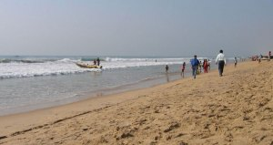 Puri Beach in Odisha, India