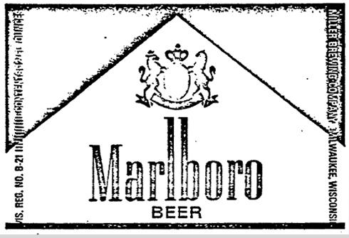Marlboro Beer Label