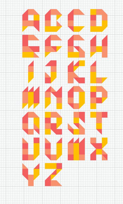 7  u201ctangram u201d typefaces