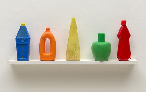 TonyCragg-Bottles-on-a-shelf