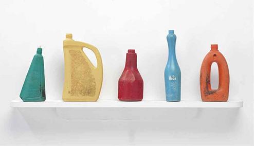 TonyCragg-Bottles-on-a-shelf2