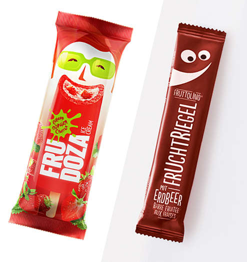 Frudoza & Fruttolino Anthropomorphic Packets
