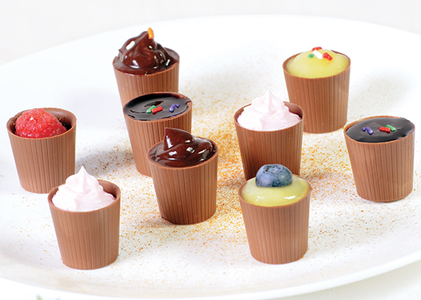 Food-Photo-milk-chocolate-cups candy branding food photography
