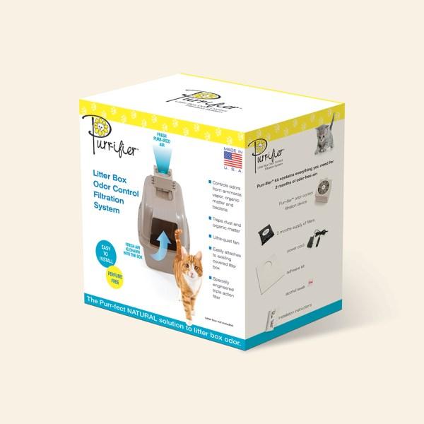 Purr-ifier pet package design