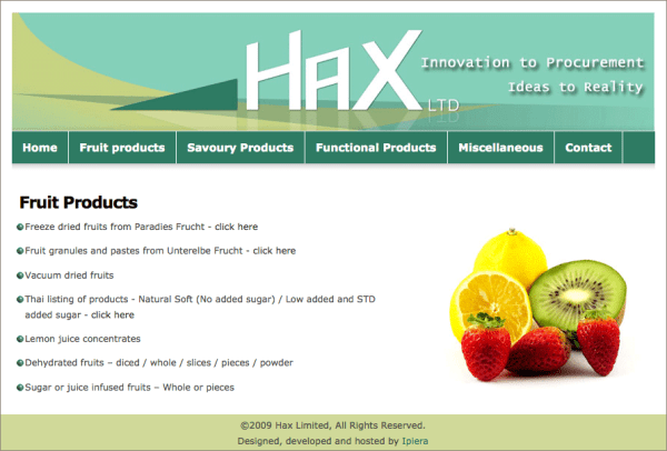 Hax-Ltd-website