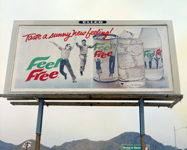 Feel Free soda billboard