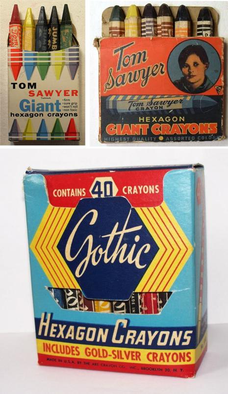 VintageHexagonalCrayons