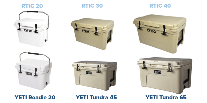 comparison of rtic vs yeti rotomolded coolers