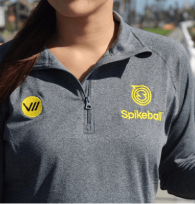 Spikeball Quarter Zip Grey