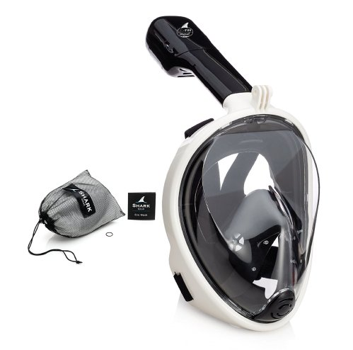 seafin black full face snorkel mask