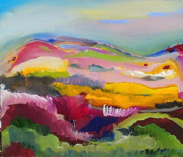 Caledon Hills - painting- Dianne Shelton