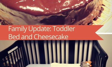 Toddler Bed and Cheesecake