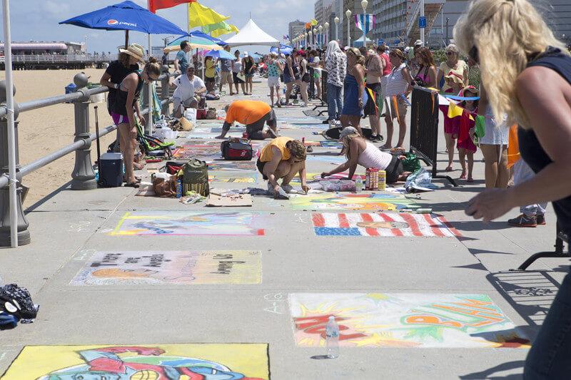 virginia beach chalk the walk