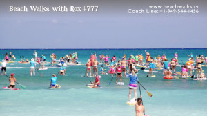 standup paddle race with The Butterfly Effect on North Shore Maui