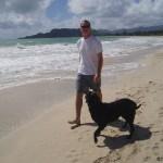 Secret Cameraman - Shane - walking with Lexi Dogg