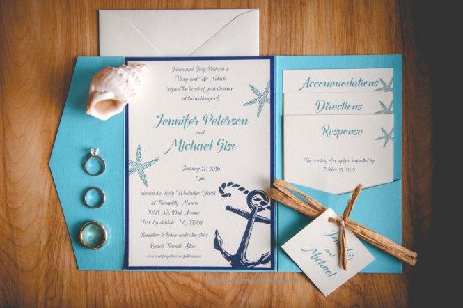 Sand Beach Wedding Invitation Psd Format Template