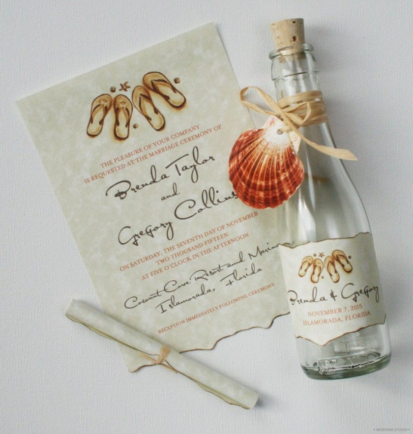 Beach Theme Wedding Invitations Message In A Bottle Stylish And Original Tips