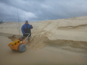 We effortlessly took the cart over dunes when the tide cut off beach access