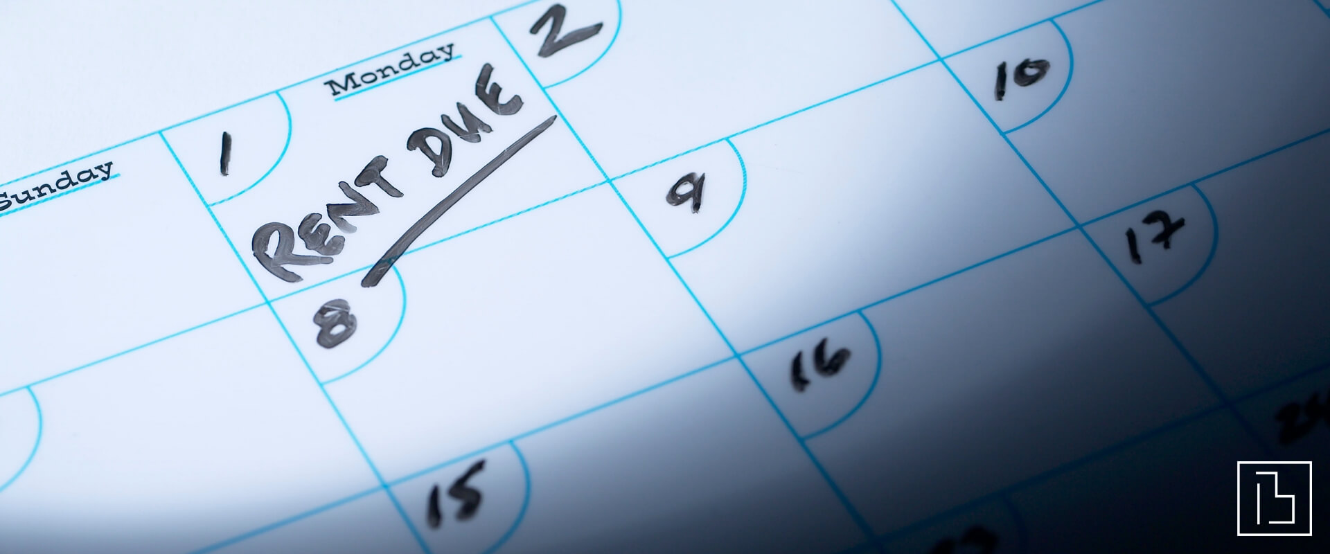Calendar with rent due - Beachworks LLC