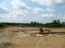 July 19, 2011 Footers poured!