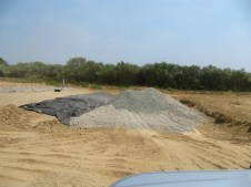 July 21, 2011 Gravel for water drainage infiltration system.