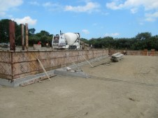 July 26, 2011 Pouring auditorium foundation walls.