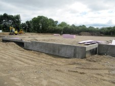 August 16, 2011 Foundation wall complete--ready for plumbing and wiring.