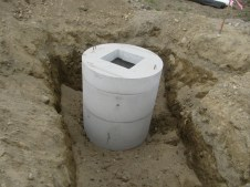 August 25, 2011 Drain basin.