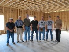 10/20/11 Bob, Ray, Pastor Bill, Brian, Terry, & Brannon welcome Jason Weaver from Virginia to the crew.