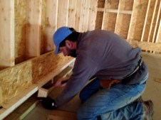 12/23 Pastor Bill putting in boards for the floor joyce.
