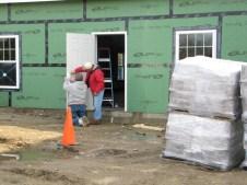 10/31/11 Tommy & Terry installing the Sunday School wing door handle.