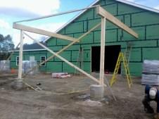 11/1/11 Carport frame.