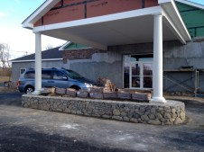 1/2/12 Front view of carport planter